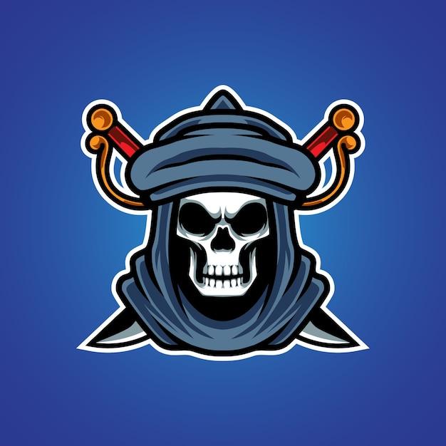 Logotipo da mascote robber e sport Vetor Premium