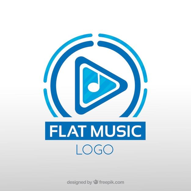 Logotipo da música moderna Vetor grátis