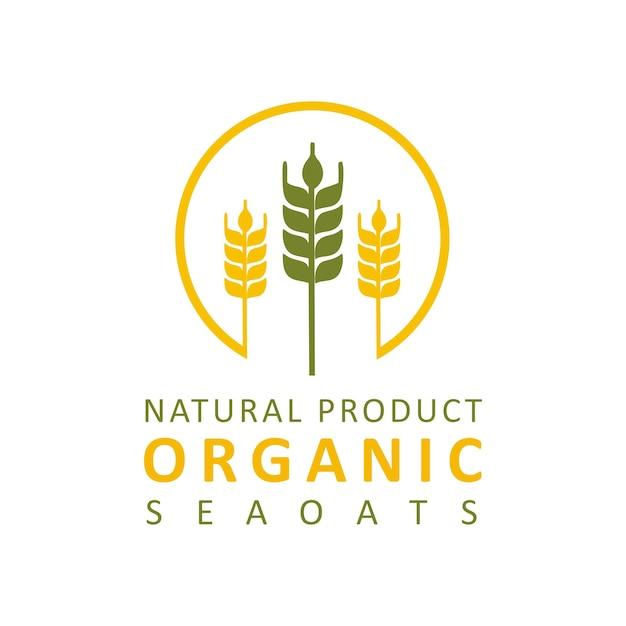 Logotipo da padaria de trigo Vetor Premium