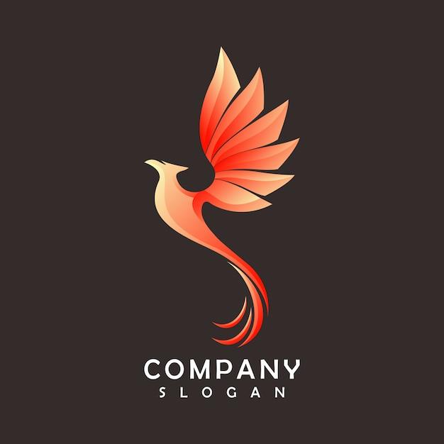 Logotipo da phoenix Vetor Premium