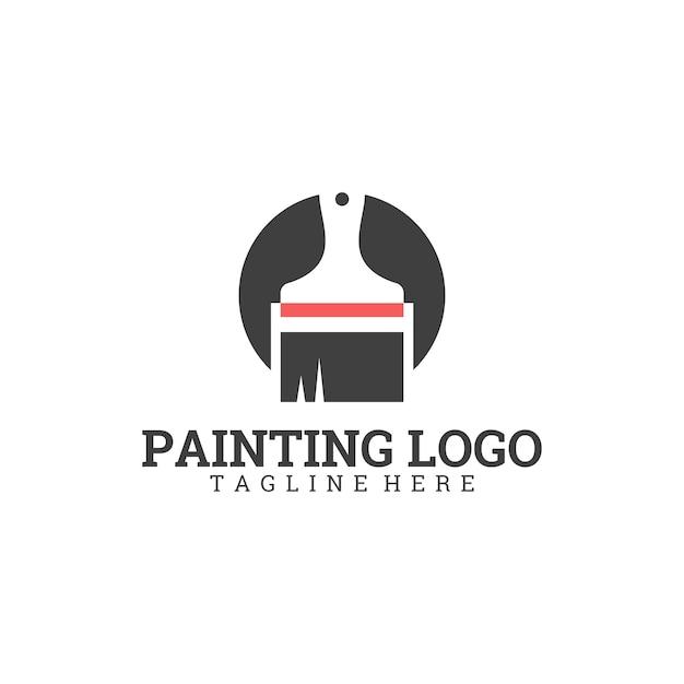 Logotipo da pintura Vetor Premium