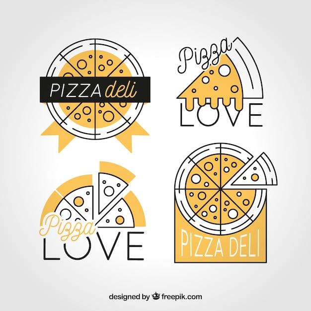 Logotipo da pizza yello Vetor grátis