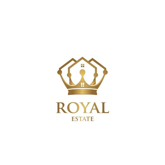 Logotipo da propriedade real Vetor Premium