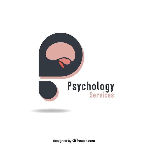 Logotipo da psicologia abstract Vetor grátis