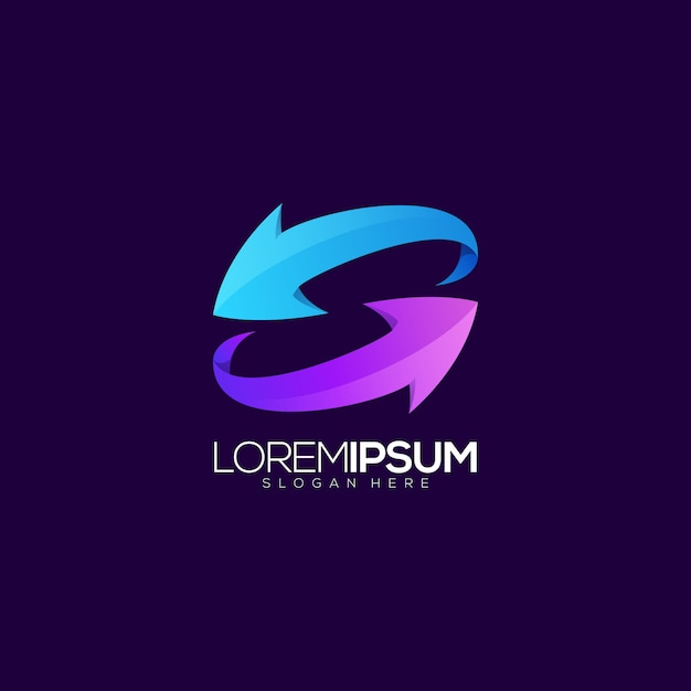 Logotipo da seta Vetor Premium