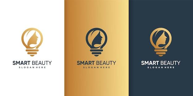 Logotipo da smart beauty Vetor Premium