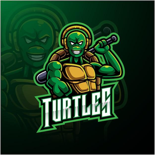 Logotipo da tartaruga Vetor Premium
