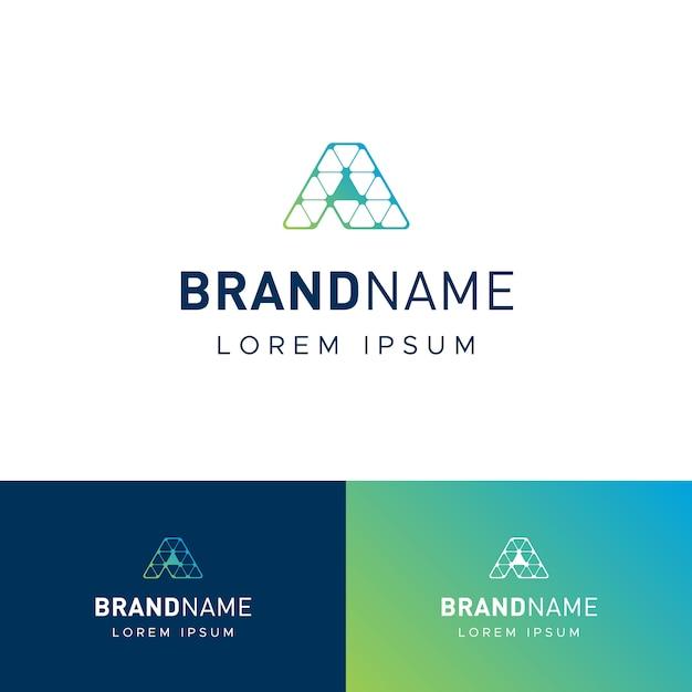 Logotipo da techy letter a Vetor Premium