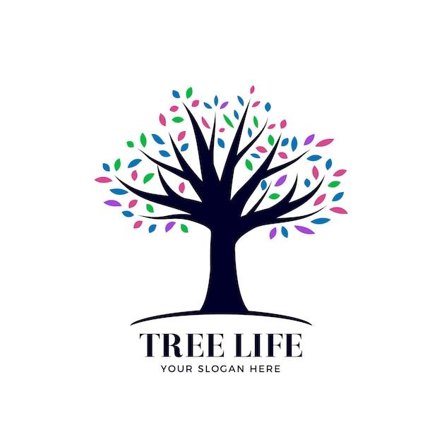 Logotipo da tree life Vetor Premium