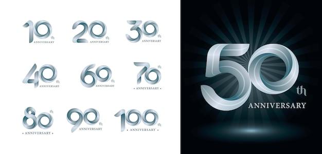 Logotipo da twist ribbons, letras numéricas estilizadas de origami, Vetor Premium