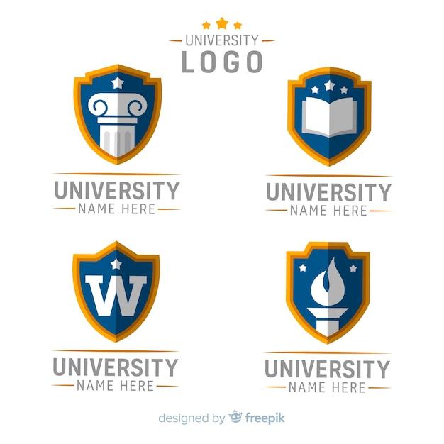 Logotipo da universidade Vetor grátis