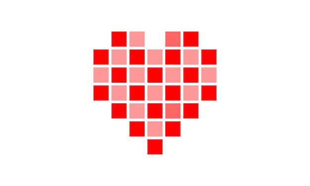 Logotipo de amor Vetor Premium