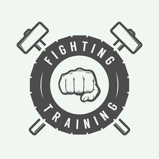 Logotipo de artes marciais mistas Vetor Premium