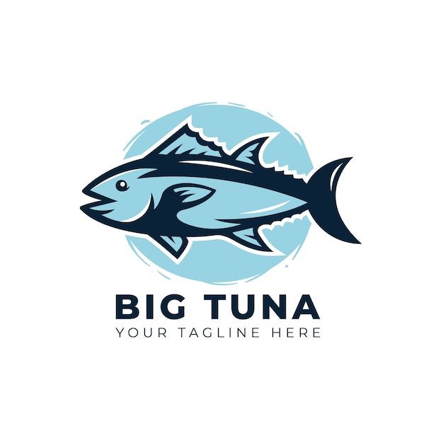 Logotipo de atum Vetor Premium
