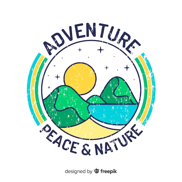 Logotipo de aventura vintage Vetor grátis