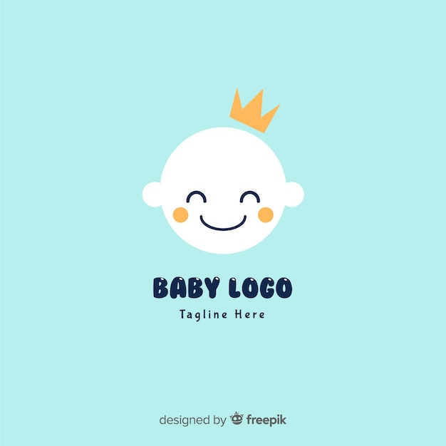 Logotipo de bebê liso Vetor grátis