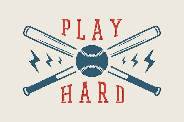 Logotipo de beisebol, emblema Vetor Premium