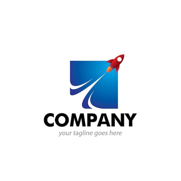 Logotipo de booster abstrata Vetor Premium