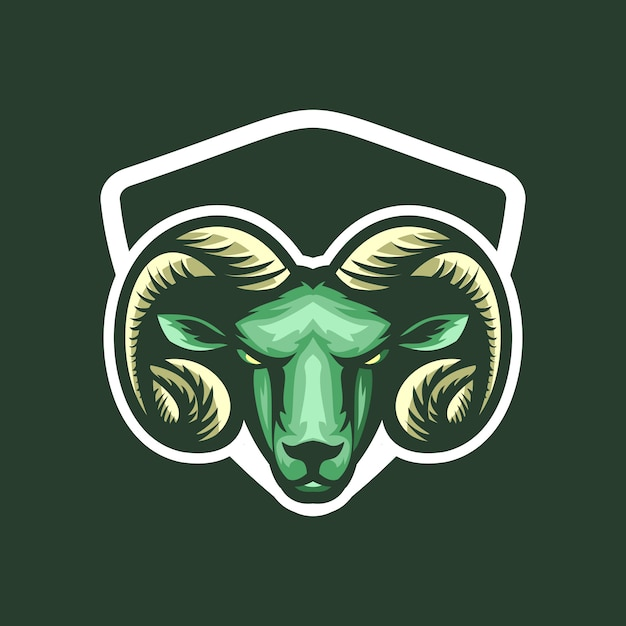 Logotipo de cabra Vetor Premium