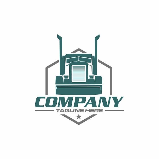 Logotipo de caminhão semi Vetor Premium