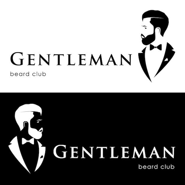 Logótipo de cavalheiro Vetor Premium