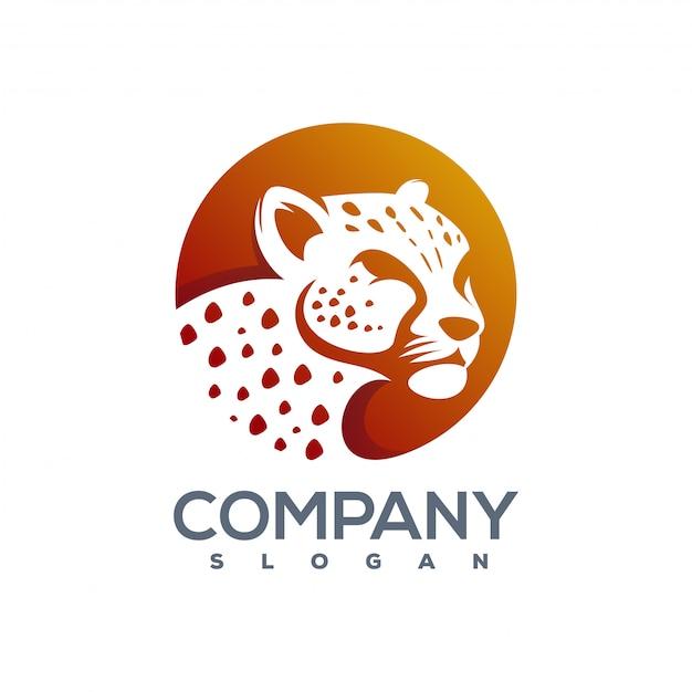 Logotipo de chita pronto para uso Vetor Premium