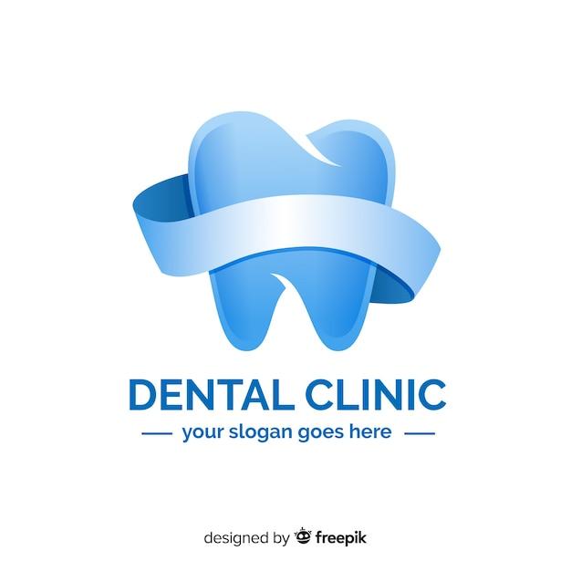 Logotipo de clínica dentária de gradiente Vetor grátis