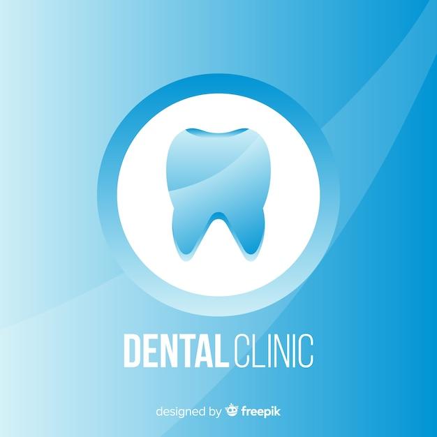 Logotipo de clínica dentária plana Vetor grátis