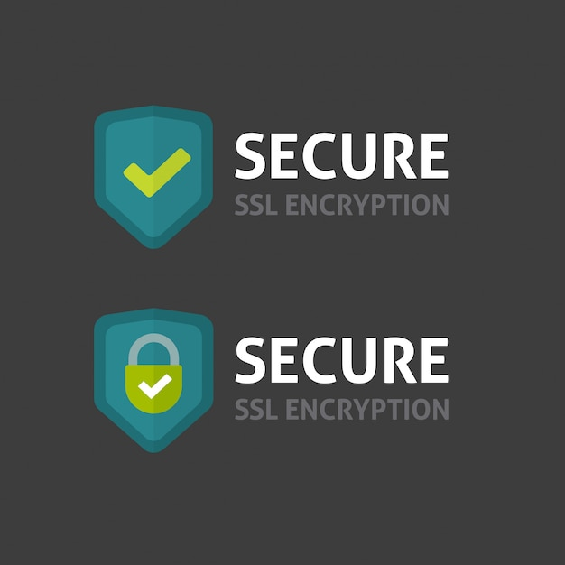 Logotipo de conexão ssl segura Vetor Premium
