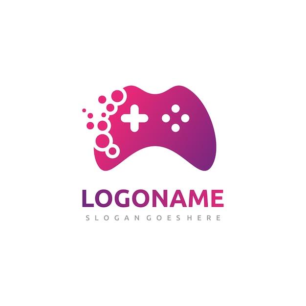 Logotipo de controlador de jogos abstratos Vetor Premium