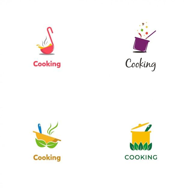 Logotipo de cozinha Vetor Premium