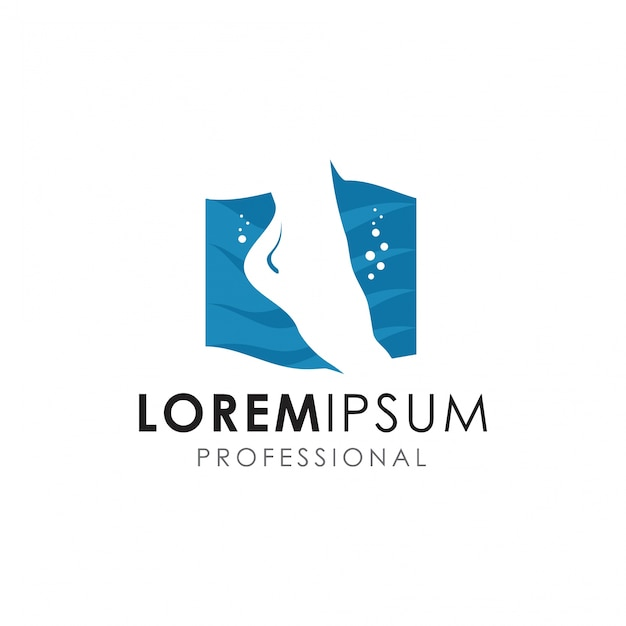 Logotipo de cuidados com os pés Vetor Premium