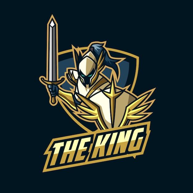Logotipo de esports knight Vetor Premium
