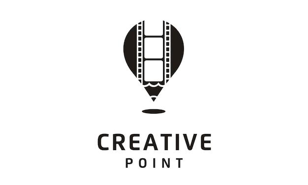 Logotipo de filme / filme / vídeo / fotografia Vetor Premium