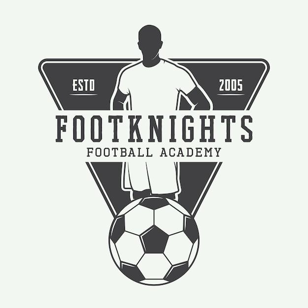 Logotipo de futebol ou futebol Vetor Premium