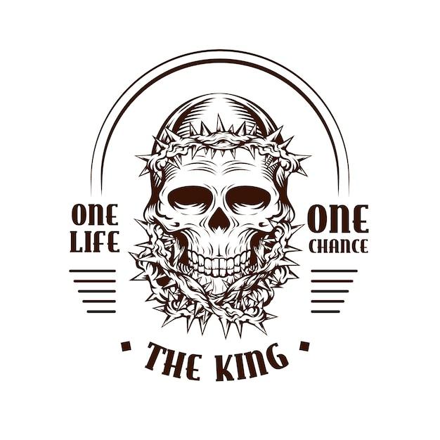 Logotipo de gangster retrô Vetor grátis