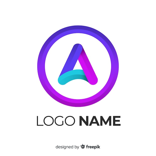 Logotipo de gradiente com forma abstrata Vetor grátis
