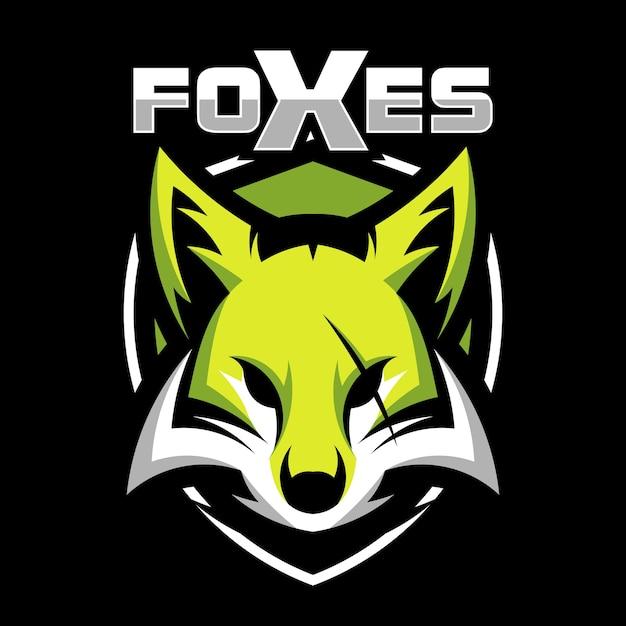 Logotipo de ilustração de vetor de cabeça de mascote animal de raposa Vetor Premium