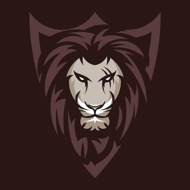 Logotipo de ilustração do leão animal mascote cabeça vector Vetor Premium