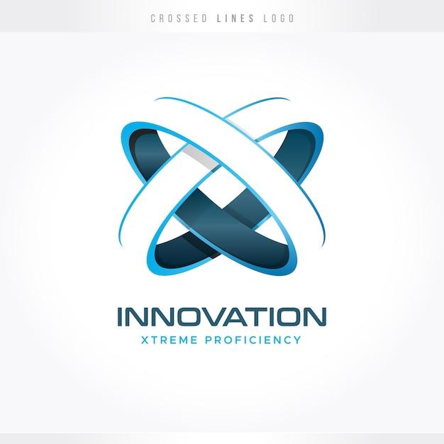 Logotipo de inovação e tecnologia Vetor Premium