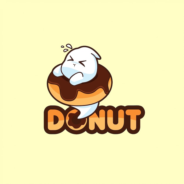 Logotipo de junk food Vetor Premium