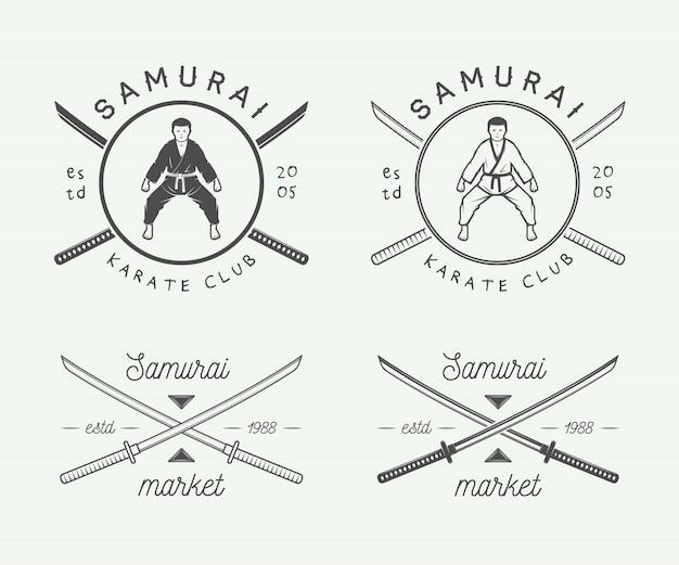Logotipo de karatê ou artes marciais Vetor Premium