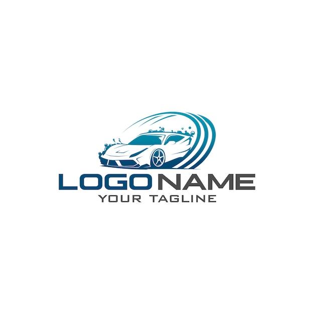 Logotipo de lavagem de carros Vetor Premium