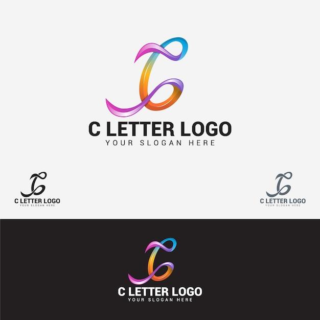 Logotipo de letra c Vetor Premium