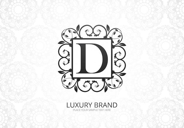 Logotipo de letra d de luxo premium para empresa Vetor grátis