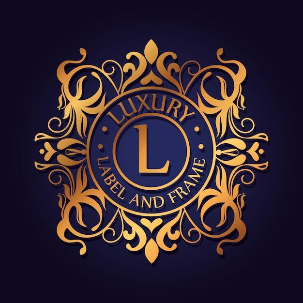 Logotipo de luxo do círculo com design de ornamento Vetor grátis