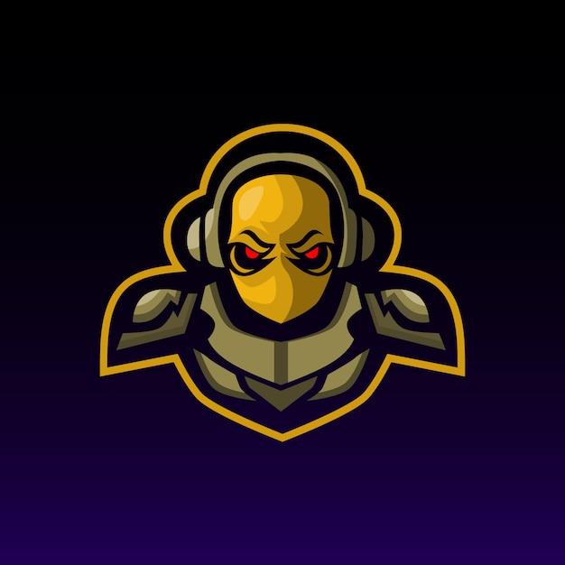 Logotipo de mascote de esquadrão de jogador Vetor Premium