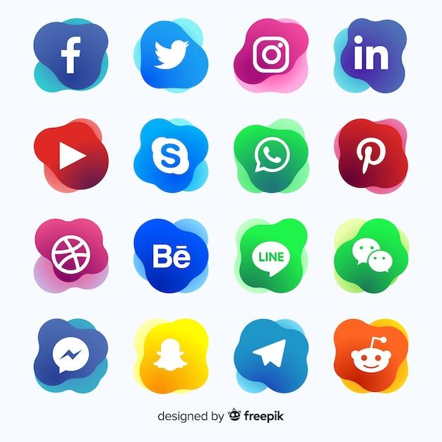 Logotipo de mídia social de gradiente collectio Vetor grátis