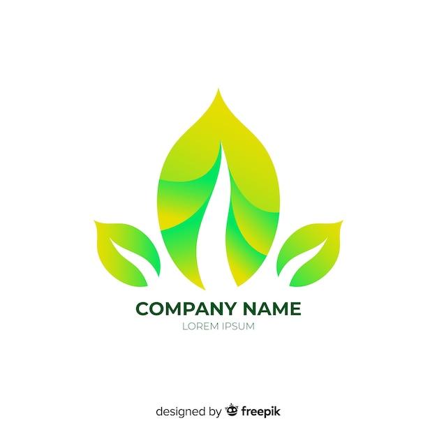 Logotipo de negócio abstrato arredondado gradiente Vetor grátis