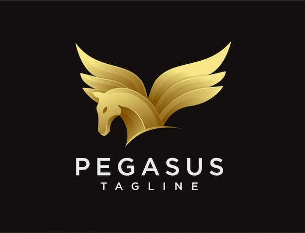 Logotipo de pegasus de elegância moderna Vetor Premium